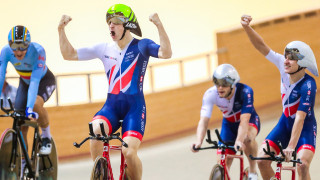Under-23 men take the team pursuit title in Anadia as the Great Britain Cycling Team's strong form continues