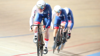 Team sprint silver for Great Britain at UCI Track Cycling World Championships