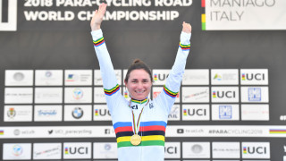 Sensational Storey back in rainbow jersey