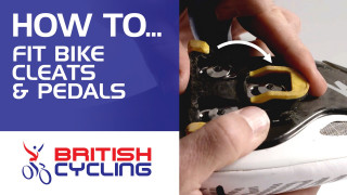How to fit bike cleats and pedals