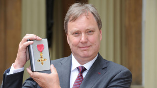 British Cycling president Bob Howden receives OBE at Buckingham Palace