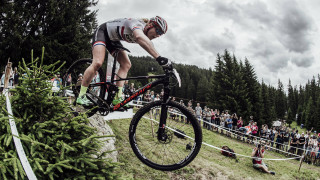 Great Britain in action at the Mercedes-Benz UCI Mountain Bike World Cup