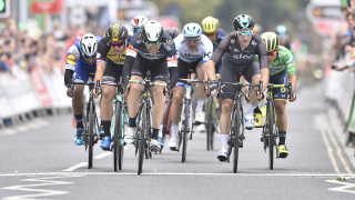 Tour of Britain: Viviani wins stage two as Boasson Hagen relegated in sprint finish