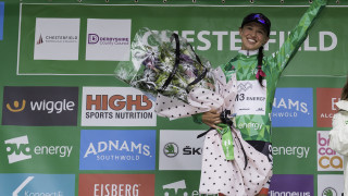 Niewiadoma holds off challenge from Majerus and Roy for the OVO Energy Green Jersey in the Women's Tour