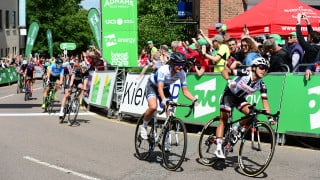 Coryn Rivera moves into OVO Energy Women's Tour lead after photo-finish victory in Daventry