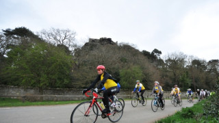 Dame Sarah Storey samples the Marie Curie Cancer Care Etape Mercia route