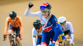 Wright rides to omnium gold in Anadia on another medal-laden day for the Great Britain Cycling Team