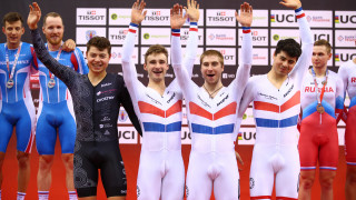 British champions Team KGF win team pursuit gold at Tissot UCI Track Cycling World Cup