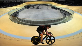 SIR CHRIS HOY RIDES VELODROME