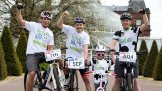 Scottish Cycling athlete James McCallum launches the Freshnlo Pedal for Scotland