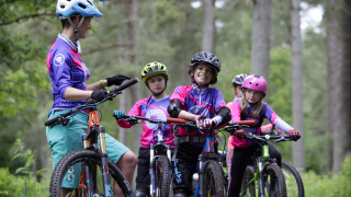 50 girls on mountain bikes for Go Girl weekend
