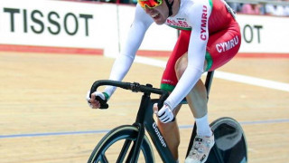 Team Wales at the Tissot UCI Track Cycling World Cup in Milton, Canada