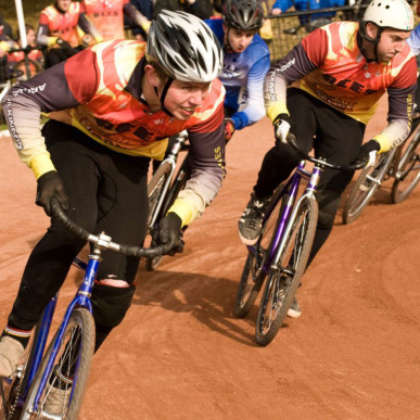 The cycle speedway rider
