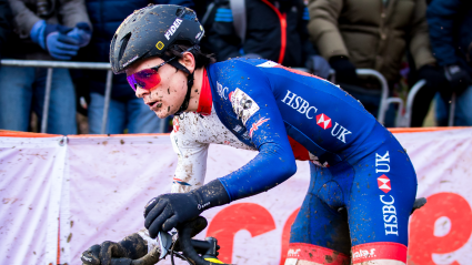 Pidcock just beaten to Cyclo-Cross World Cup podium