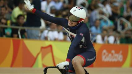 Becky James wins her second silver medal at the Rio 2016 Olympic Games
