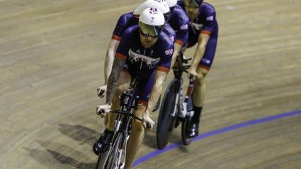 Team GB track cyclists train in Newport ahead of Rio Olympic Games