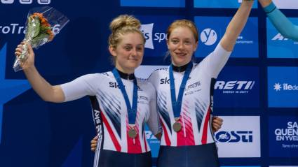 Nelson and Kay speed to silver in inaugural women's Madison at European champs