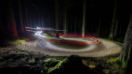 How to mountain bike in the dark