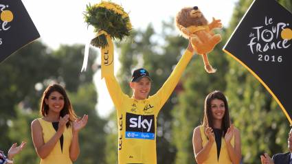 Chris Froome wins his third Tour de France with Geraint Thomas and Luke Rowe by his side