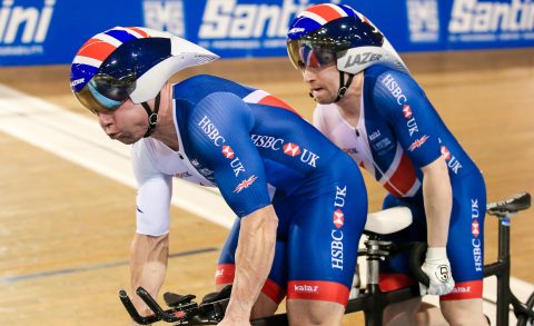 Great Britain Cycling Team's Neil Fachie and pilot Craig Maclean