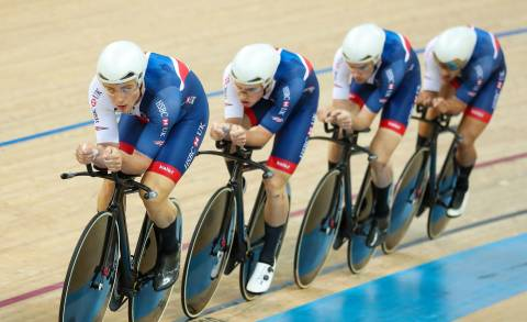 Great Britain Cycling Team's Steven Burke