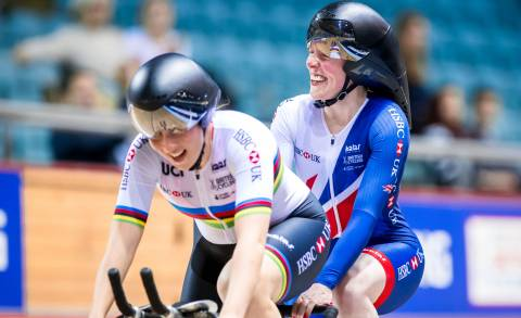 Great Britain Cycling Team's Lora Fachie and Corrine Hall