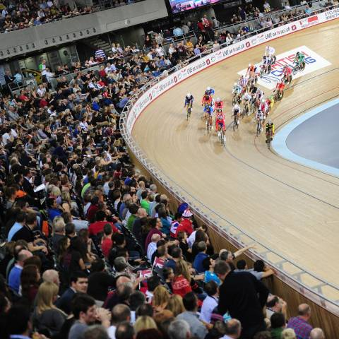 Get into track cycling venue - image