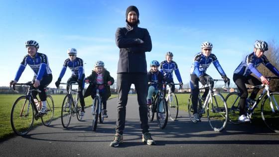 Bradley Wiggins at Liverpool Mercury Cycling Club.
