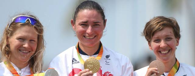 Dame Sarah Storey wins her third gold medal at the 2016 Rio Paralympic Games