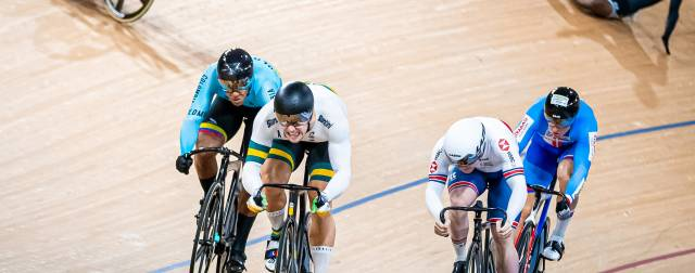 Great Britain's sprinters registered two fourth-place finishes at Track World Cup in Brisbane