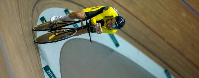 Three national titles in 24 hours for Alfie George on day four at the National Youth and Junior Track Championships