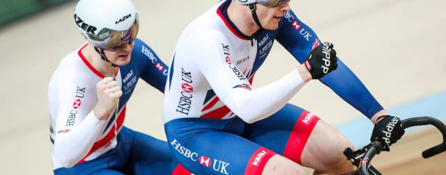 Ponthir Para Cyclist James Ball and Pilot Pete Mitchell team up for TISSOT UCI Track Cycling World Cup, London