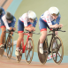 Great Britain Cycling Team in world cup team pursuit medal contention