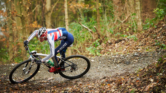 Grant Ferguson prepares for round three of the UCI Mountain Bike World Cup in Nove Mesto