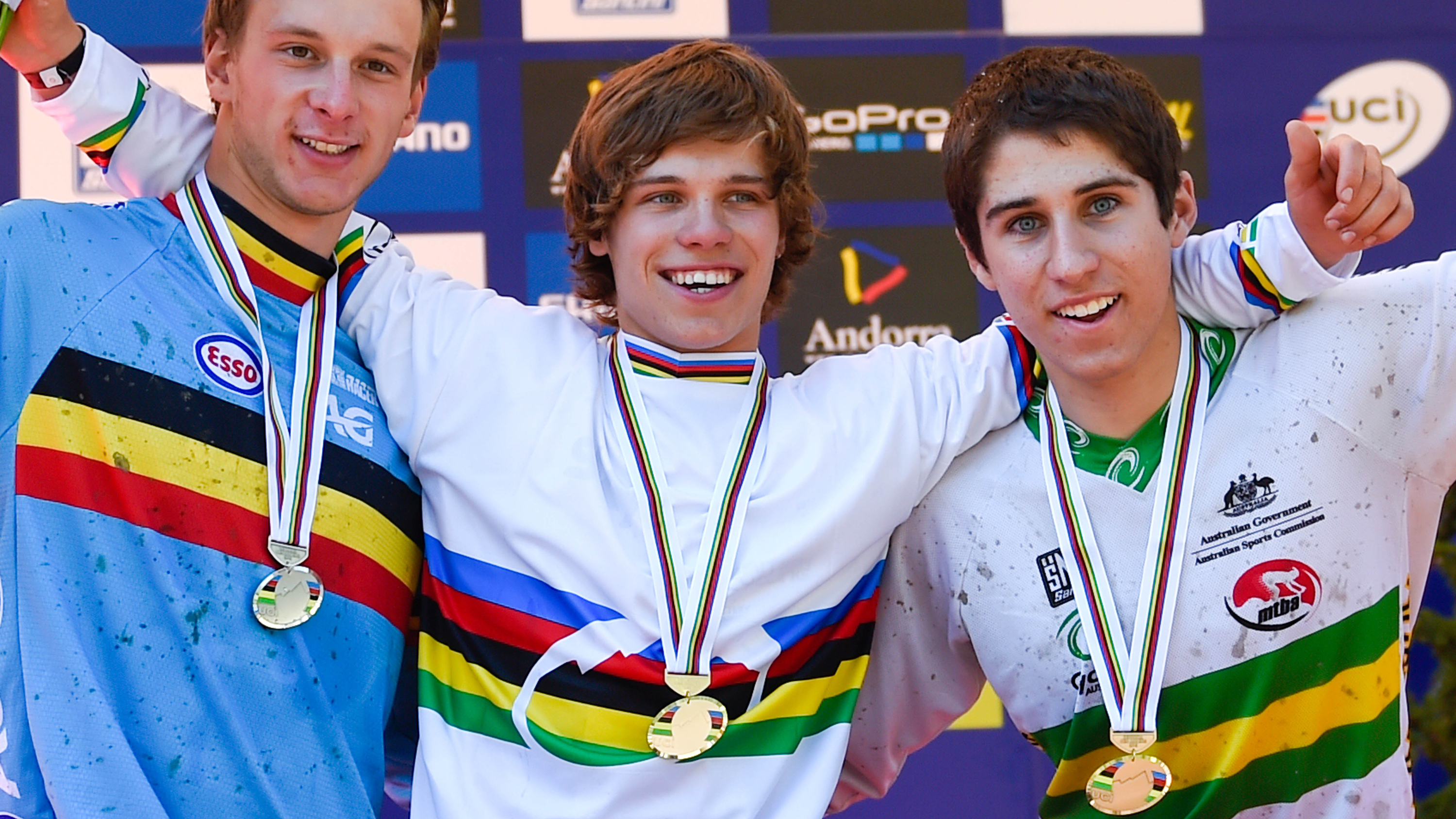 Greenland went one better than the silver he took in Norway as he won by over three seconds to get his hands on a rainbow jersey.