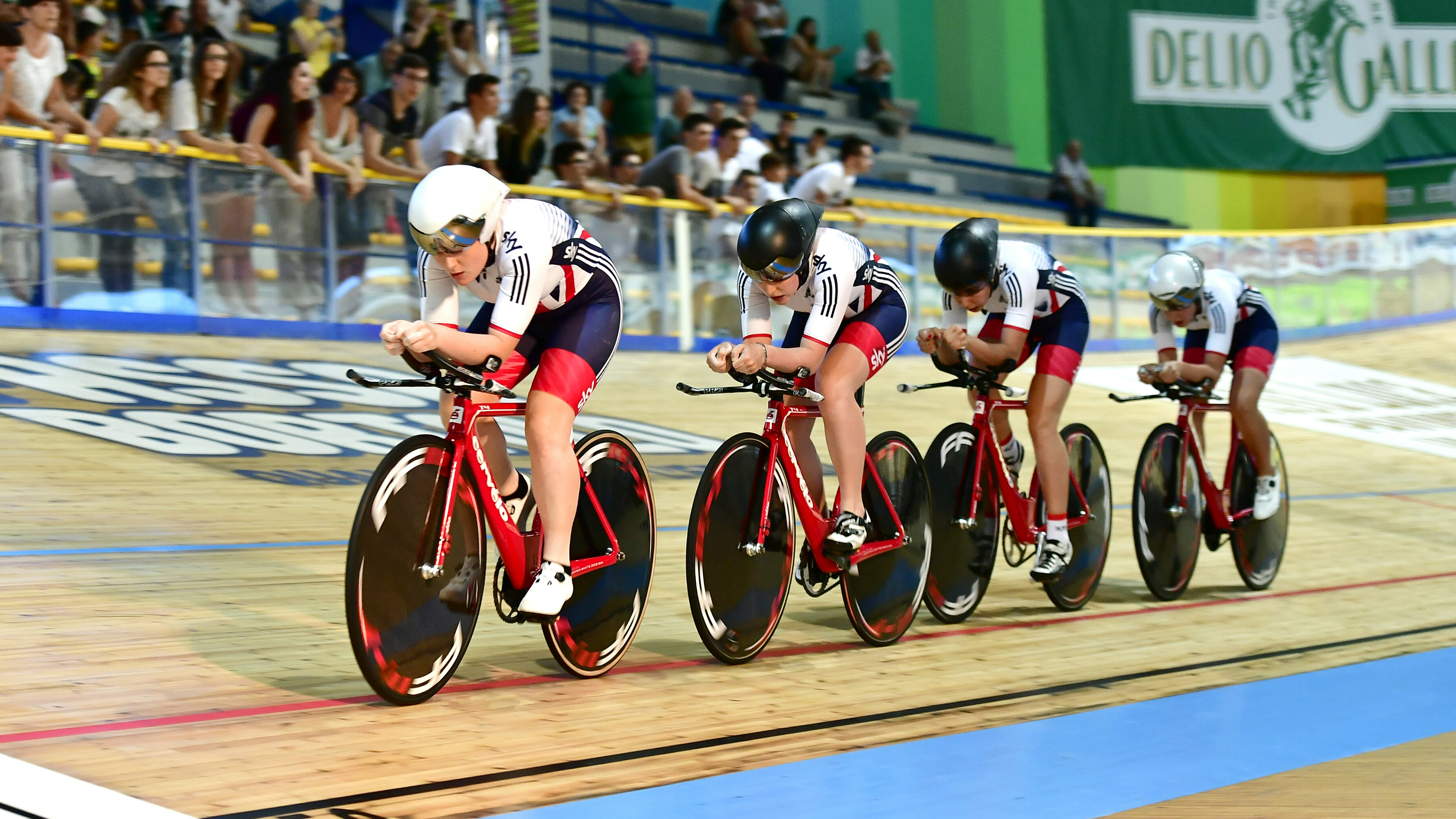 Under-23 women team pursuit squad win European gold