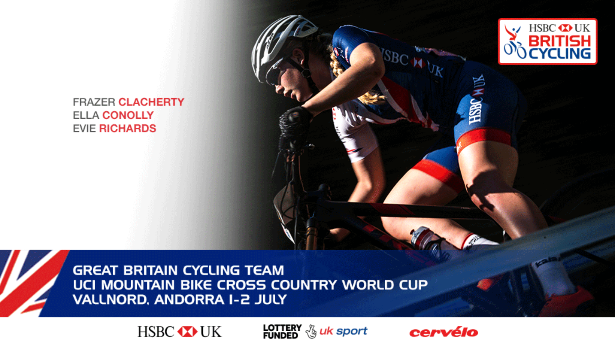 The Great Britain Cycling Team for the Vallnord Mountain Bike World Cup