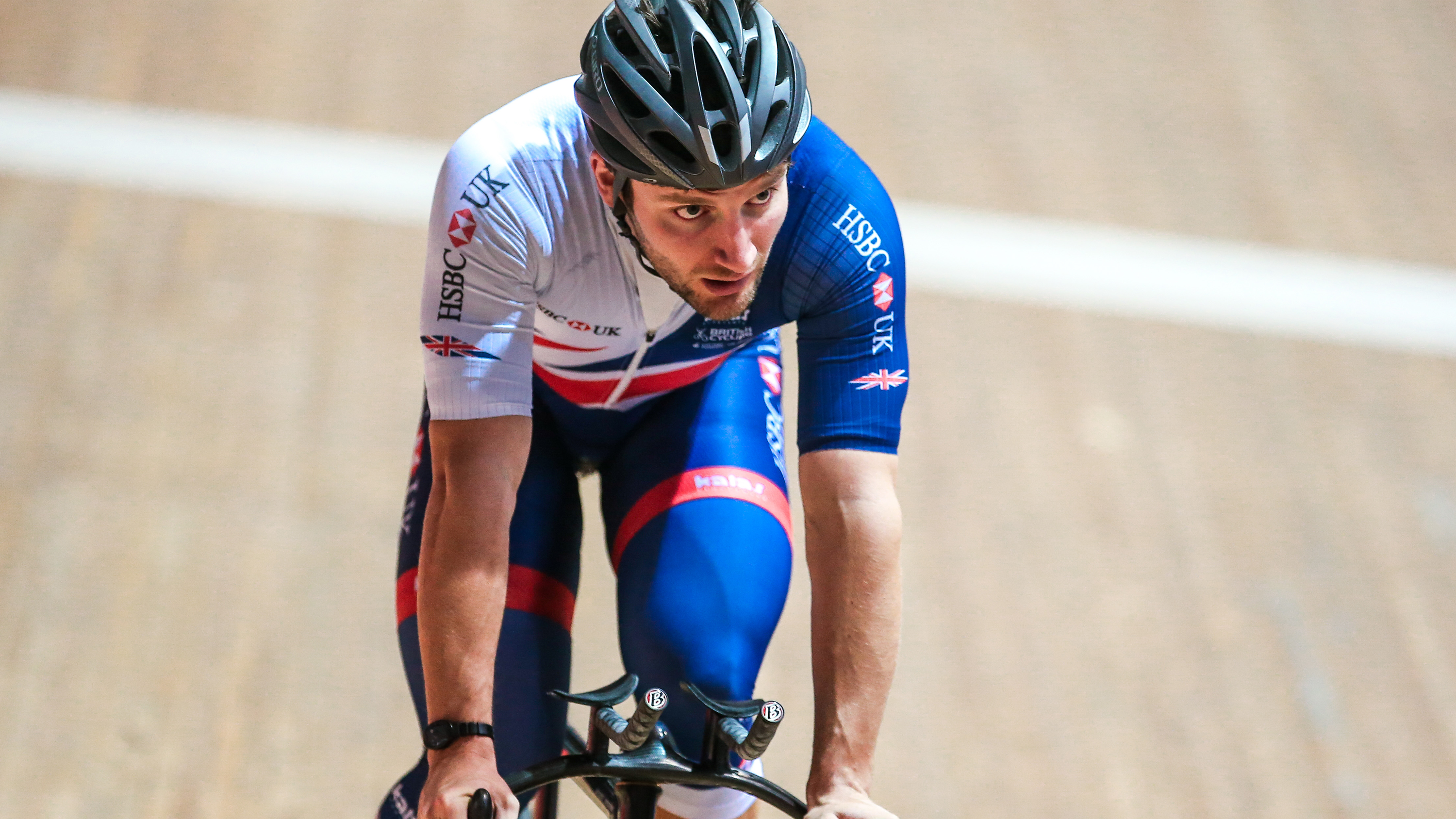 The Great Britain Cycling Team train ahead of the UCI World Track Cycling Championships in Hong Kong