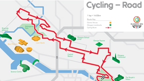 Glasgow 2014 road race route