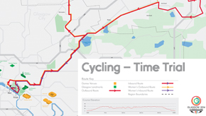 Glasgow 2014 time-trial route