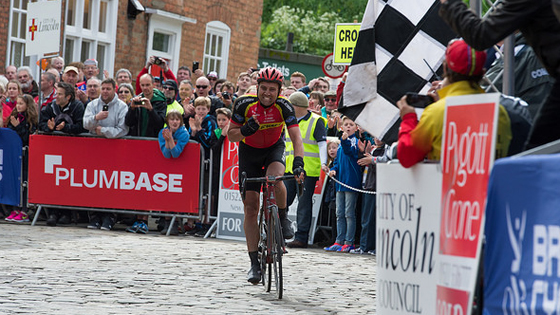 British Cycling Elite Road Series leader Yanto Barker