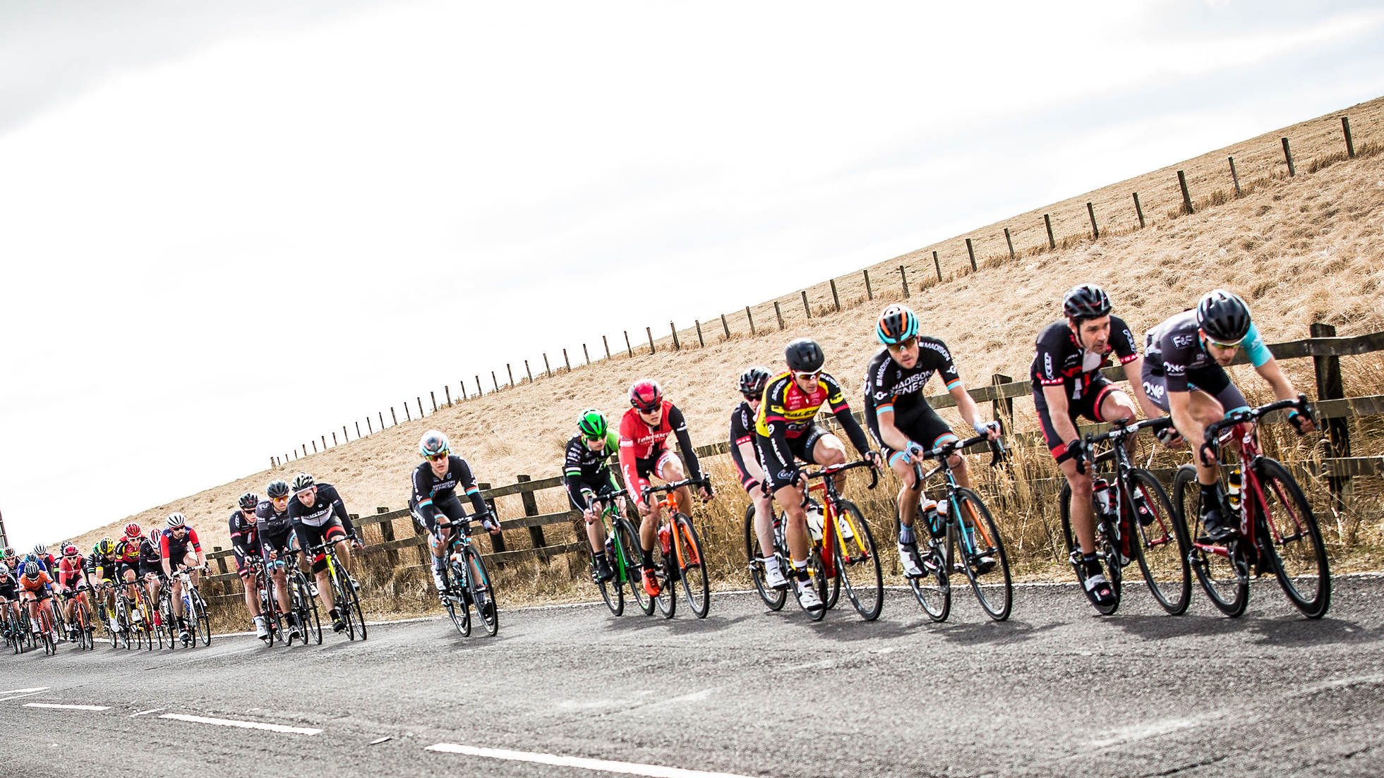 Riders in action at the Chorley Grand Prix