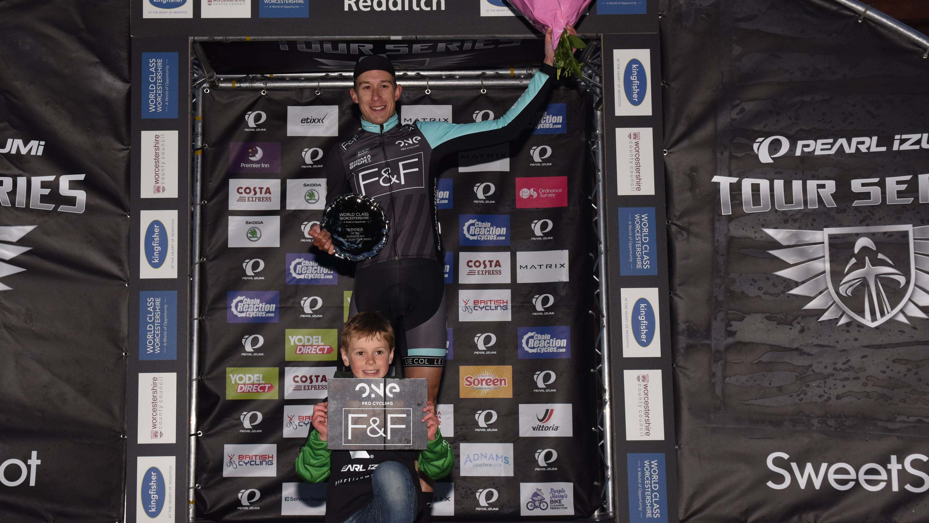 One Pro Cycling's Jon Mould, individual winner at round two of the Pearl Izumi Tour Series in Redditch.