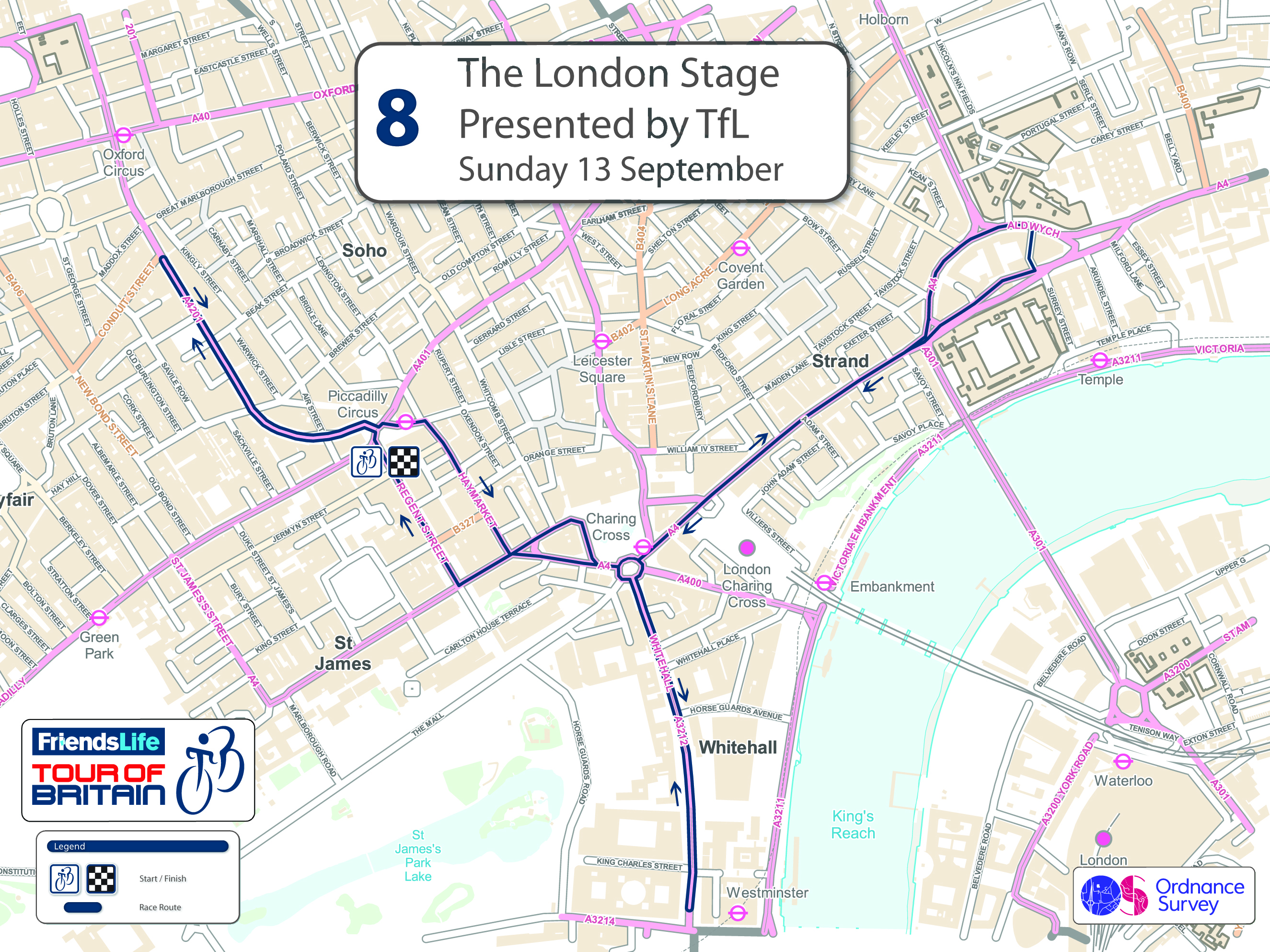 2015 Tour of Britain stage eight, London stage presented by TfL, 93km