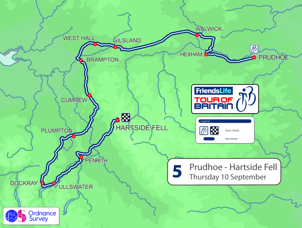 2015 Tour of Britain stage five - Prudhoe to Hartside Fell, 171km