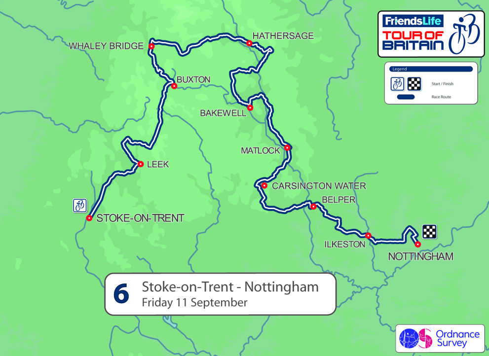 2015 Tour of Britain stage six - Stoke-on-Trent to Nottingham, 189km