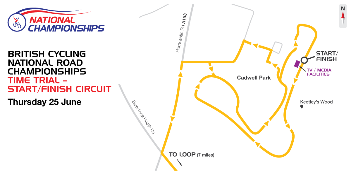 The course for the 2015 British Cycling National Road Championships time trials