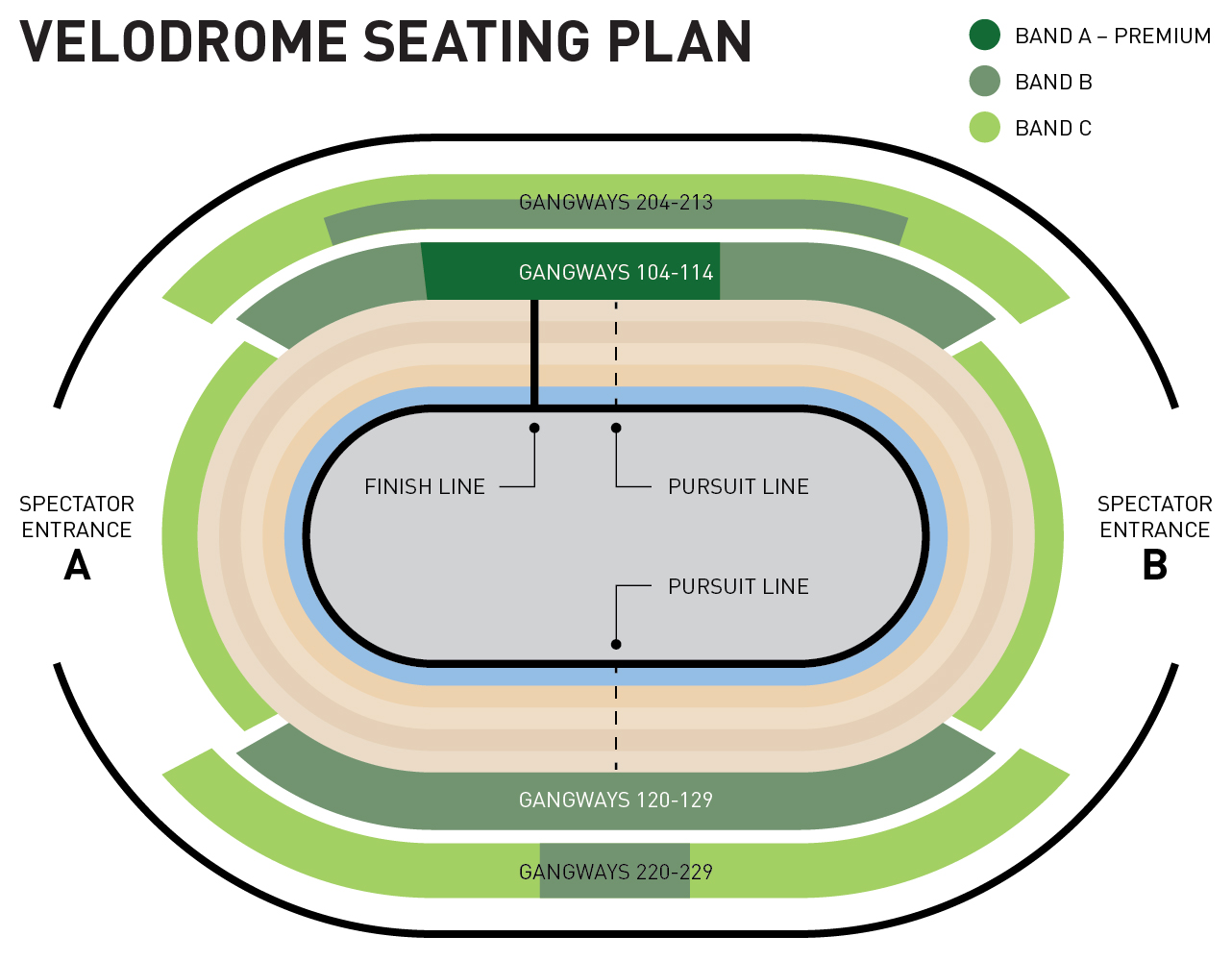 2016 UCI Track Cycling World Championships seating plan