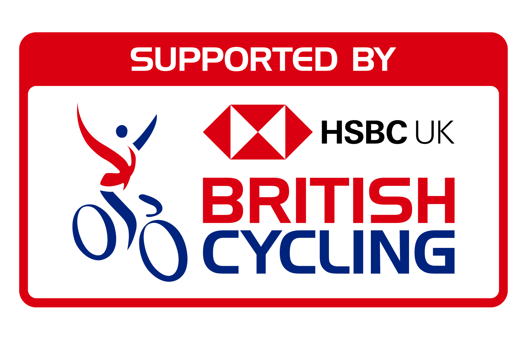 Supported by British Cycling logo